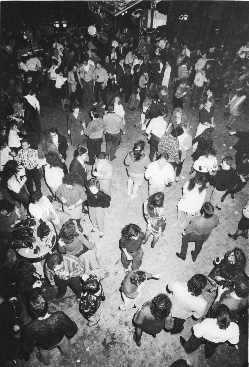 Dancers gather on the floor at LI Exchange