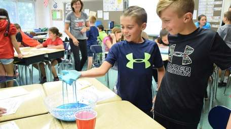 In Holtsville, fifth-graders at Waverly Avenue Elementary School