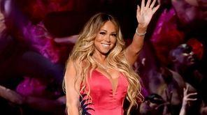 Mariah Carey performs at the American Music Awards