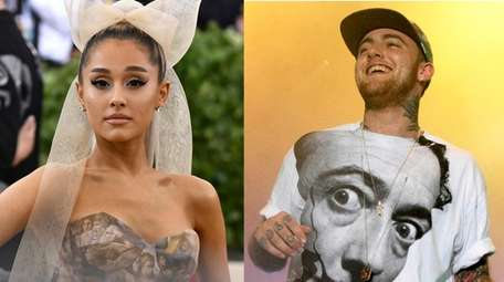 Ariana Grande and her ex-boyfriend, the late rapper