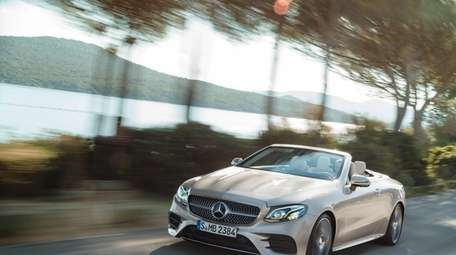 The 2018 Mercedes E400 4Matic Cabriolet is a