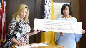 On Tuesday, Hempstead Town Supervisor Laura Gillen discussed amendments