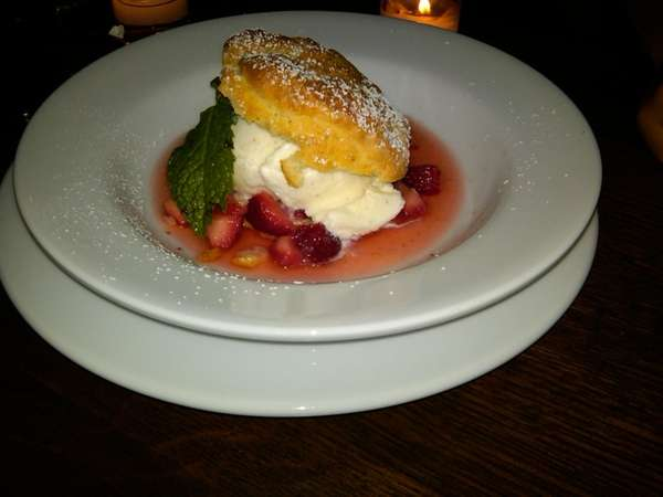 Strawberry shortcake at Fresno in East Hampton