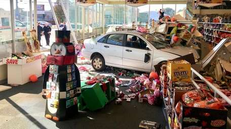 A car plowed into a Rite Aid store