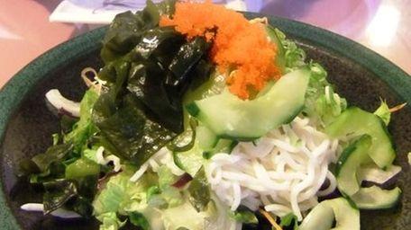 Tofu noodle salad at Musashino in Huntington