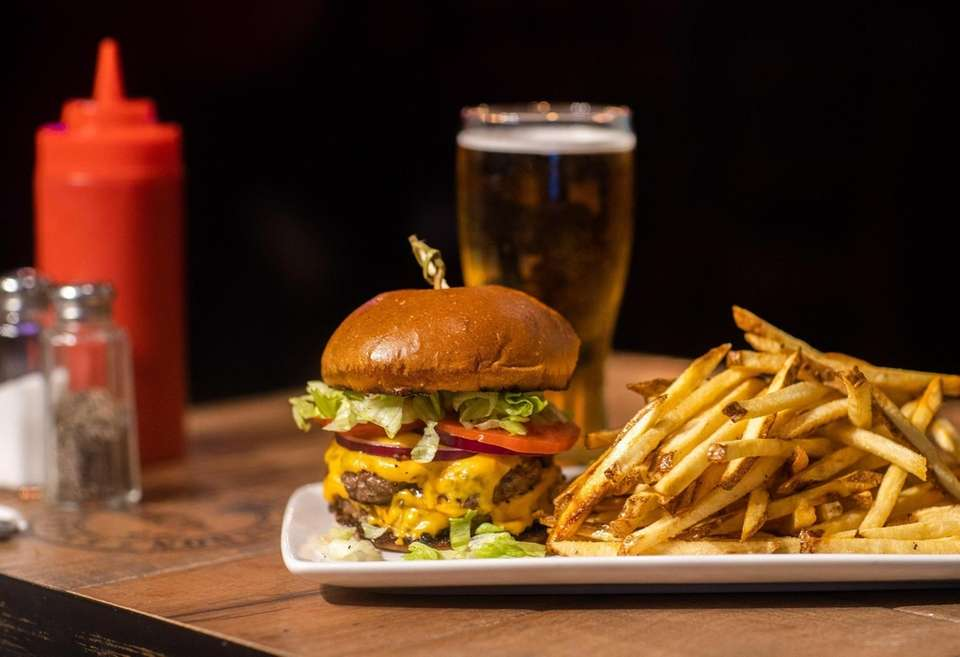 The Snouder's burger at Del's Bar & Grill