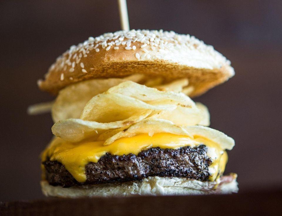 The Crunchburger at Bobby's Burger Palace is a