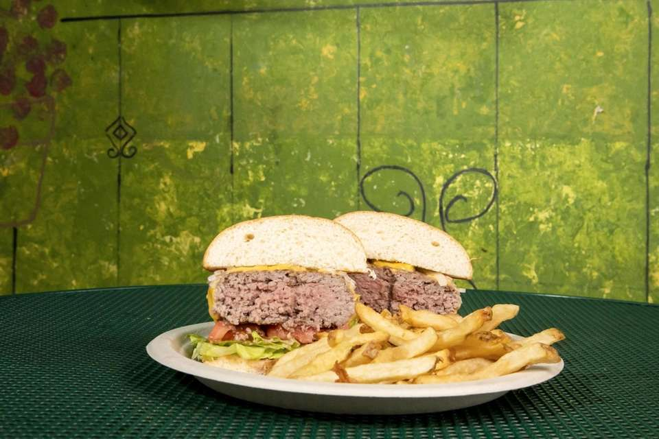 The Burger Special, prime burger with cheese (or