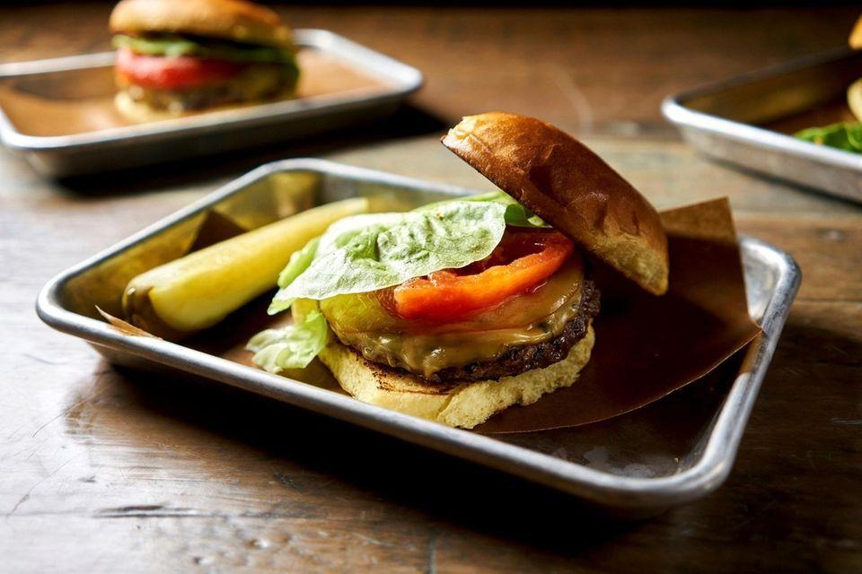 "The ""cast-iron"" cheeseburger, Old Fields BBQ, Huntington, Oct."