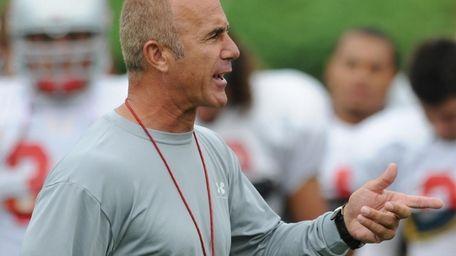 Stony Brook University football head coach Chuck Priore