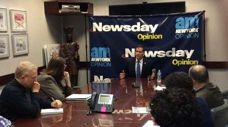 Marc Molinaro visits the Newsday Editorial Board on