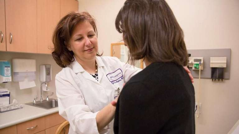 Dr. Sylvia Adams, left, an oncologist and specialist