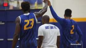 The Hofstra men's and women's basketball teams held