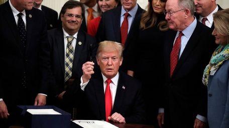 President Donald Trump after signing bipartisan legislation to