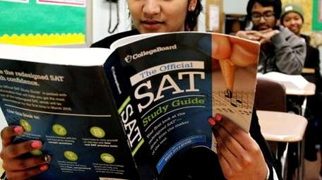 The College Board reported an uptick in the