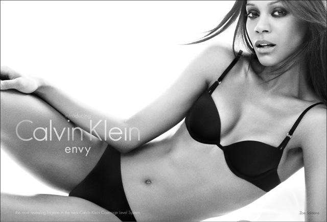 Zoe Saldana is Calvin Klein Underwear's newest pitchwoman.