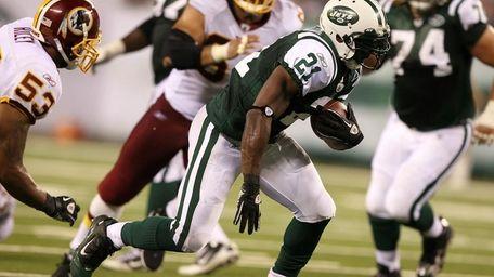 LaDainian Tomlinson #21 of the New York Jets