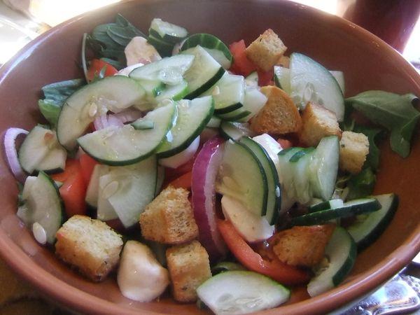 My tomato, basil and mozzarella salad at Panera