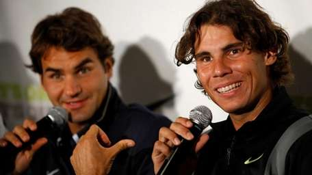 Roger Federer and Rafael Nadal answer questions at