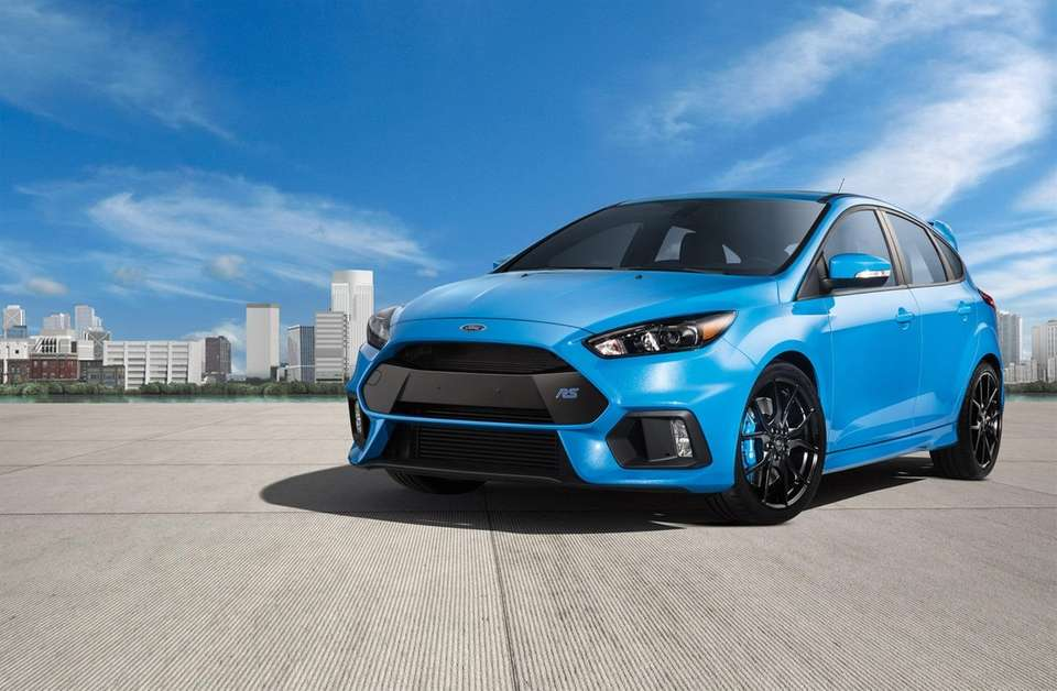 A 2017 Ford Focus RS in an undated