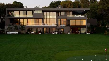 This eight bedroom Sands Point mansion features a