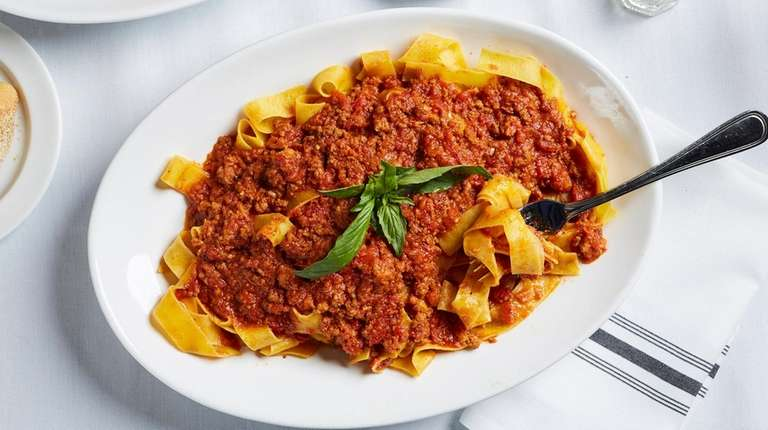 Pappardelle alla Bolognese at Matteo's Trattoria and Bar