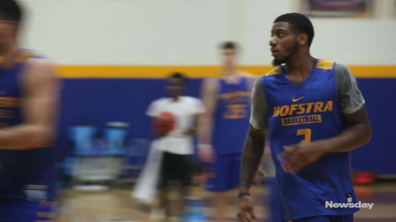 Hofstra men's basketball player Justin Wright-Foreman was named the