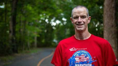 Chris Boundy trains for his upcoming marathon on