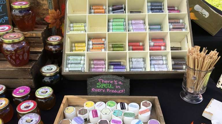 BeeWitched Bee's honey-infused lip balm, perfume, candles plus