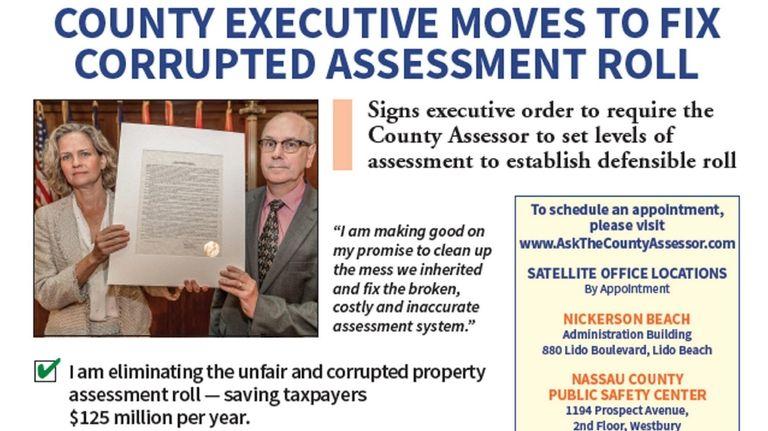 Nassau County News mailer featuring Nassau County Executive
