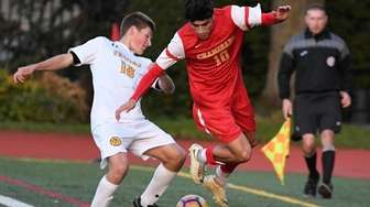 Chaminade midfielder Rafael Achury and St. Anthony's defender