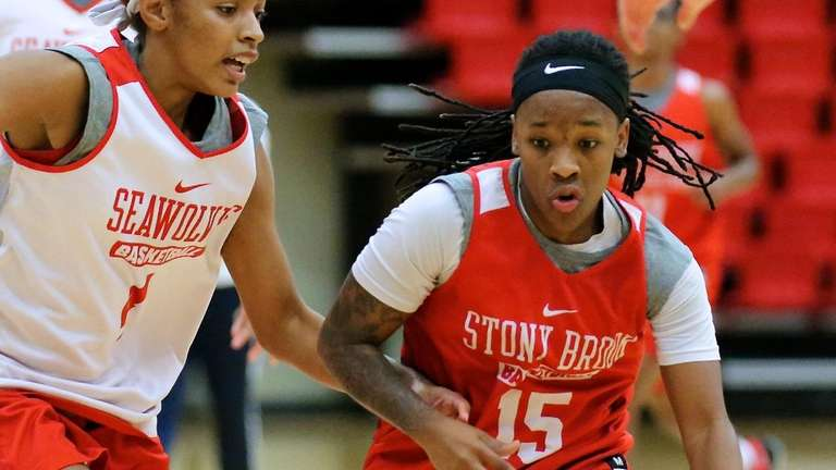 Seawolves guard Shania (Shorty) said her knee injury
