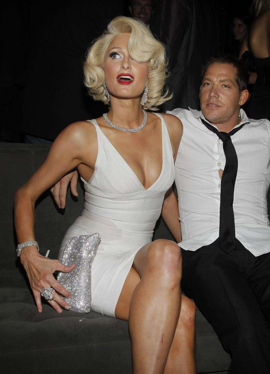 Paris Hilton and Cy Waits attend her fragrance