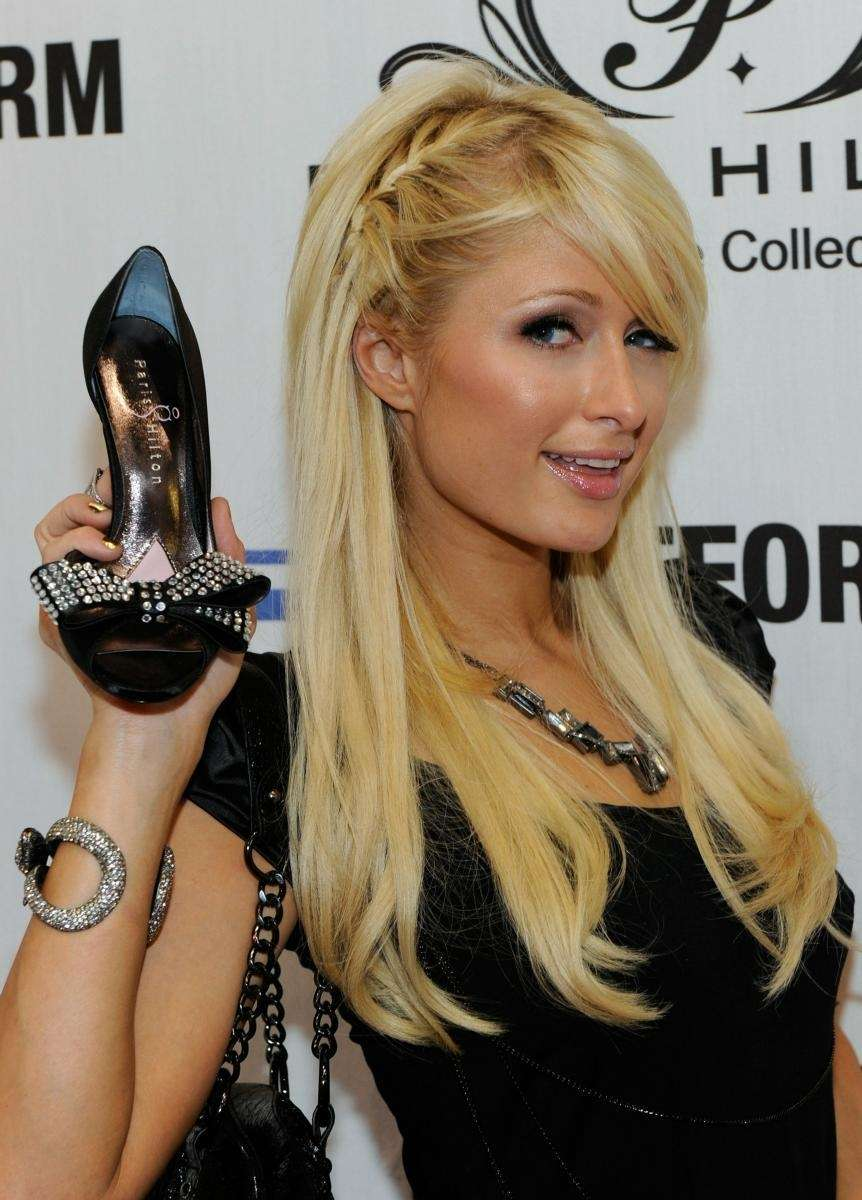 Paris Hilton unveils her spring 2011 shoe collection,