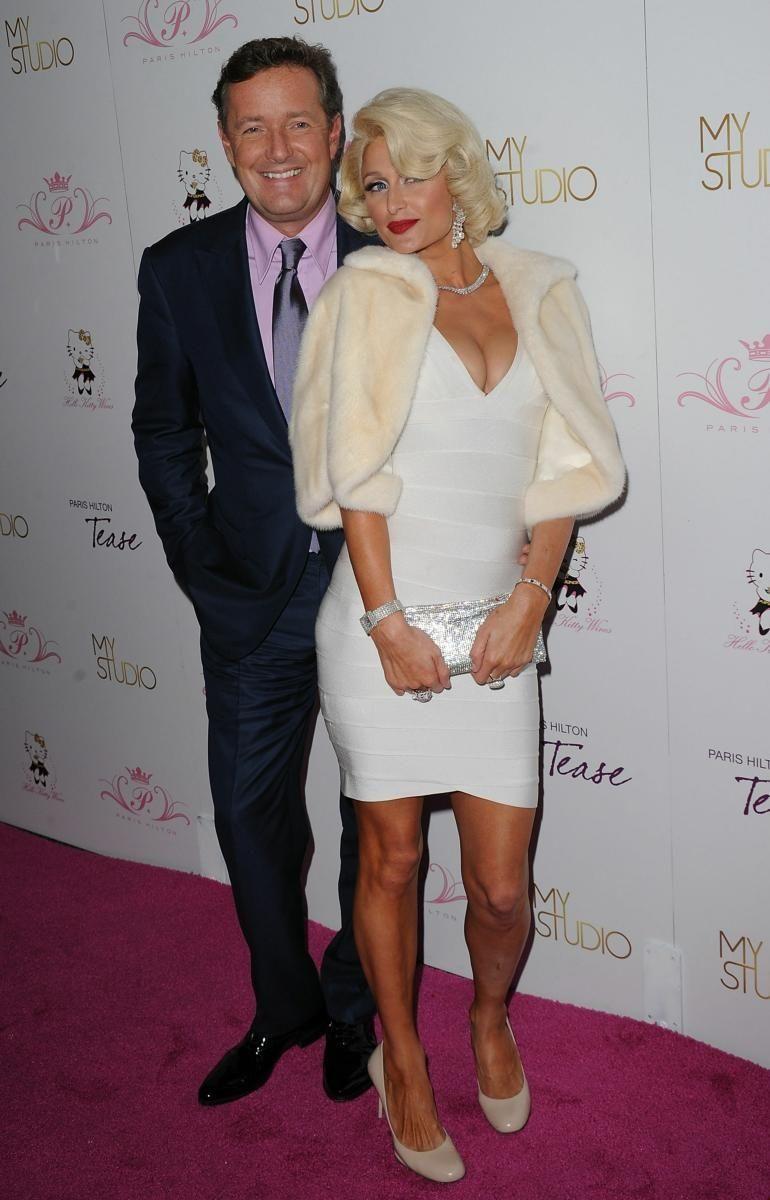 Paris Hilton and Piers Morgan attend the launch