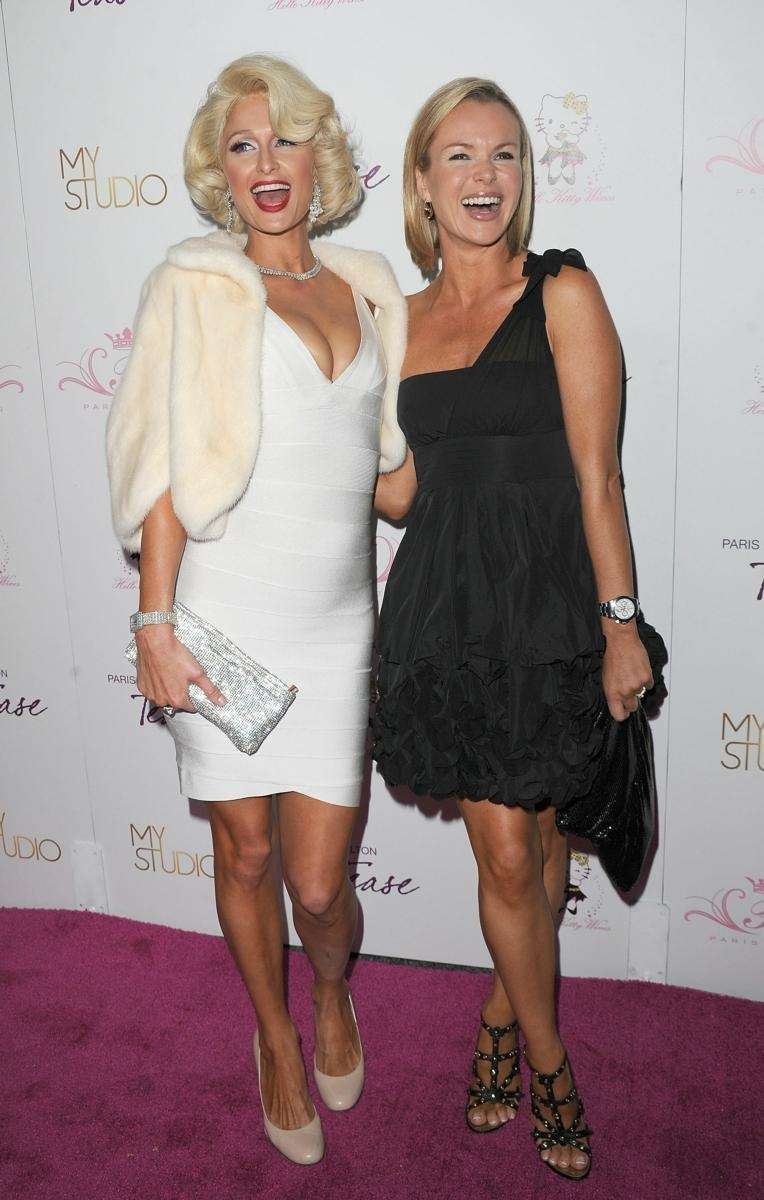 Paris Hilton and Amanda Holden attend the launch