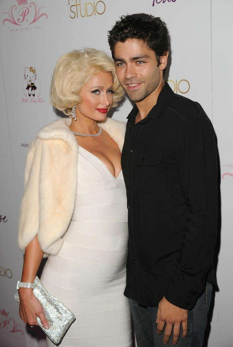 Paris Hilton and Adrian Grenier attend the launch