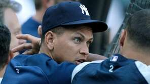 The Yankees' Alex Rodriguez comes off the disabled
