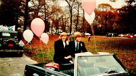 Pam Davis as homecoming queen in 1984.