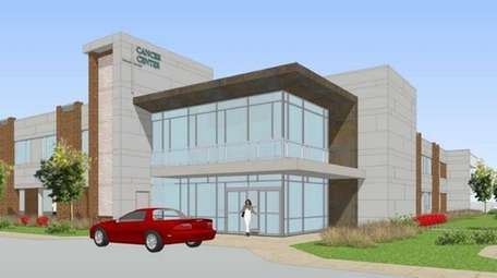 A rendering of the cancer center at Good