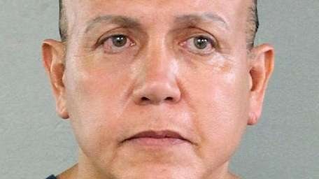 Cesar Sayoc in an undated booking photo released