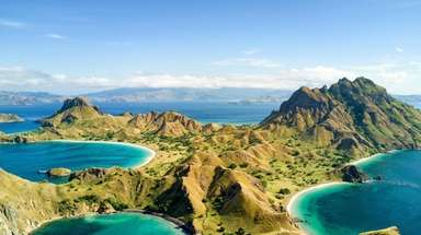 Pulau Padar, Komodo National Park in Indonesia.