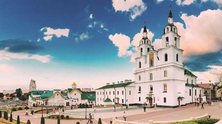 The Cathedral Of Holy Spirit In Minsk -