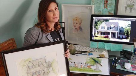 Lynbrook artist Natalie Katz with her most recent