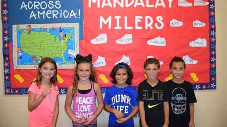 In Wantagh, Mandalay Elementary School students are collectively