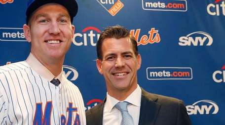 Brodie Van Wagenen, right, with one of his