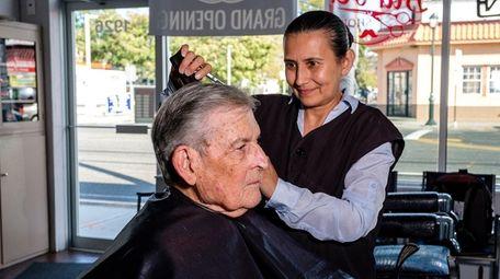 Alicia Zayala, owner of Alicia's Haircutters in Baldwin,