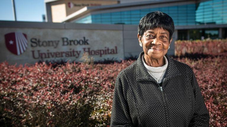 Frances Brisbane, shown outside Stony Brook University Hospital