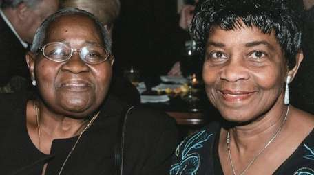 Frances Brisbane, right, is shown in a photograph