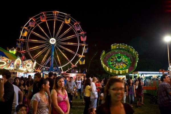 People attend the Mother Cabrini Feast at Suffolk